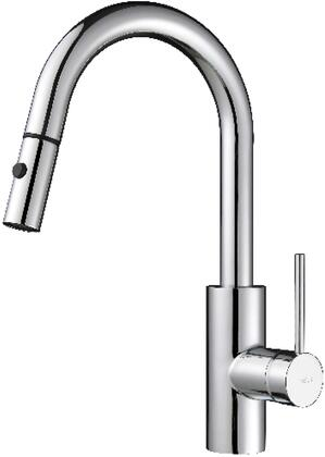 KPF2620260041CH Oletto Series Pull-Out Kitchen Sink with Solid Brass Construction  Included Bar/Prep Faucet  and Soap Dispenser