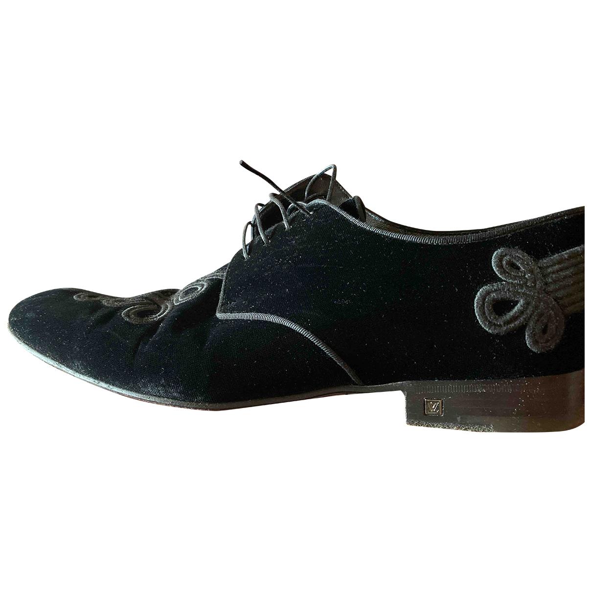 Louis Vuitton \N Black Velvet Lace ups for Men 9 US
