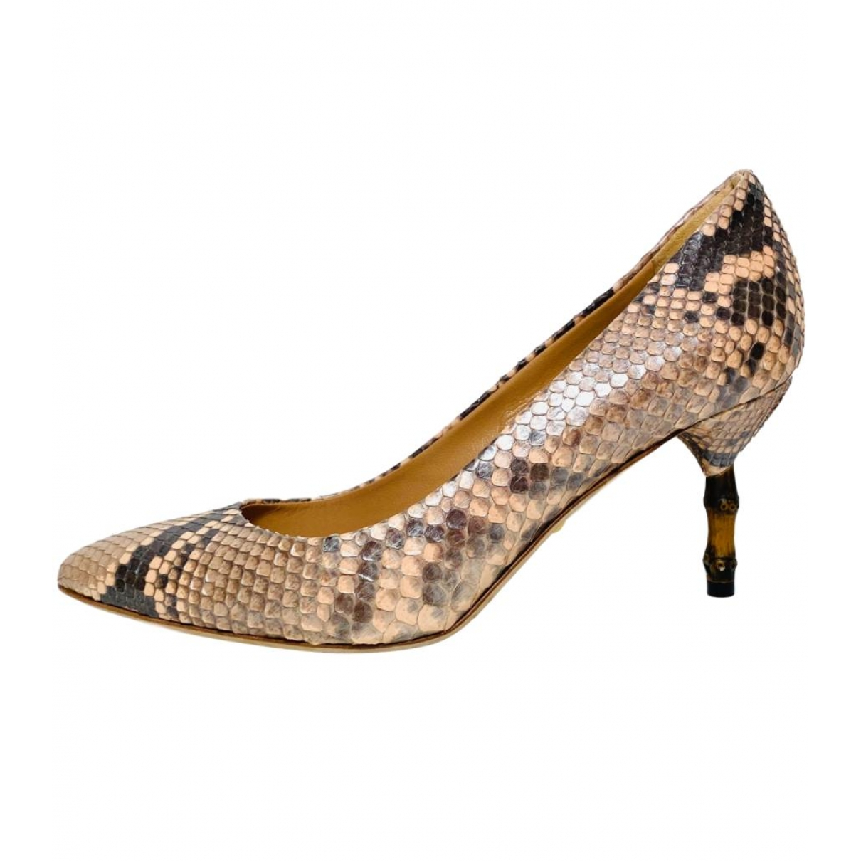 Gucci \N Brown Python Heels for Women 36.5 EU