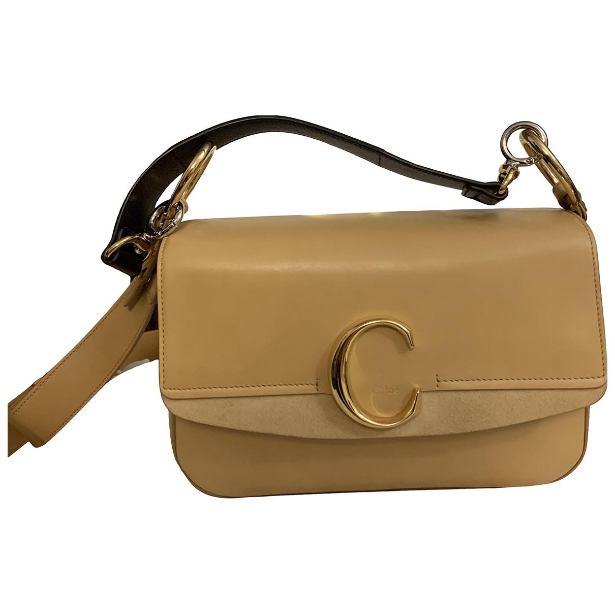Chloé C Beige Leather handbag for Women \N