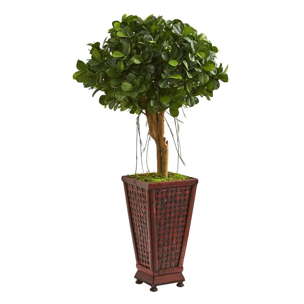3.5' Ficus Artificial Tree in Classic Decorative Planter