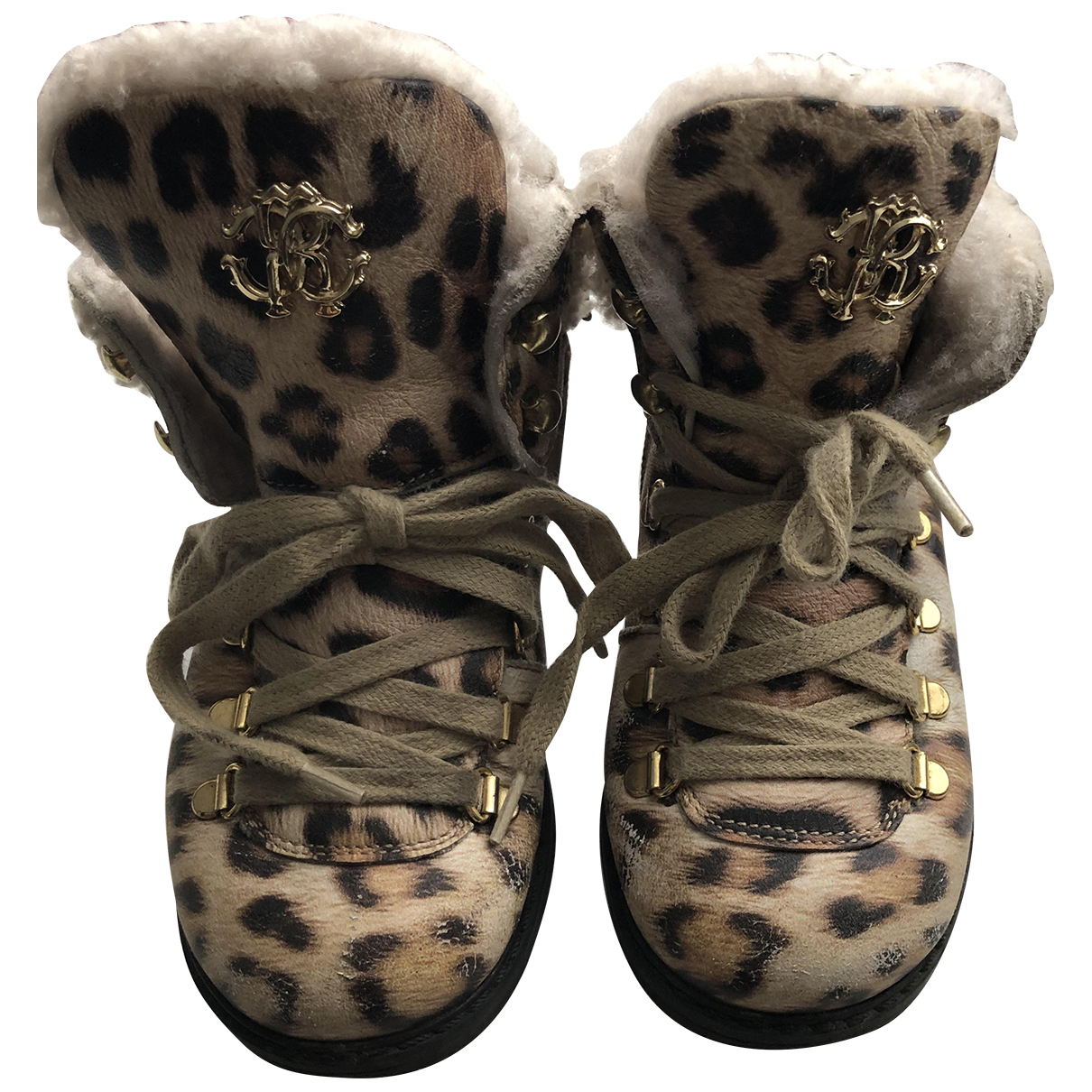 Roberto Cavalli N Brown Lace up boots for Kids 25 FR