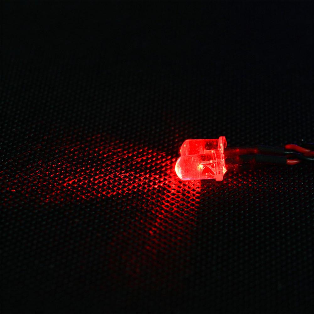 Feiyue Red RC Car LED Light For 1/12 FY03 FY04 FY05 FY06 1/10 HG RC Model Parts ⌀5mm