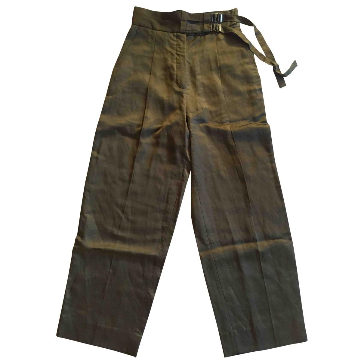 Sandro \N Khaki Trousers for Women 38 FR