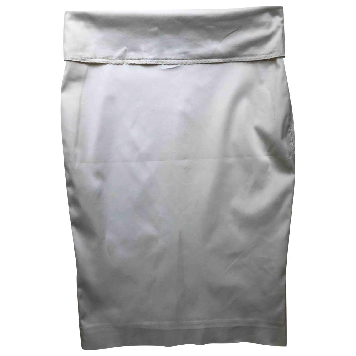 Gucci - Jupe   pour femme en coton - elasthane - blanc