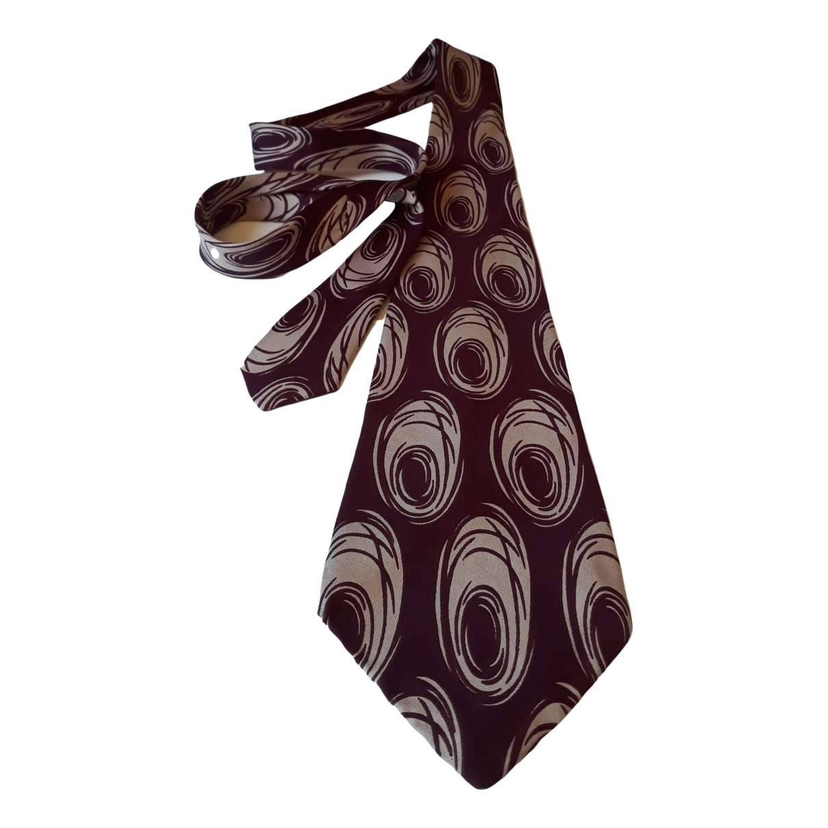 Non Signe / Unsigned \N Krawatten in  Bordeauxrot Seide