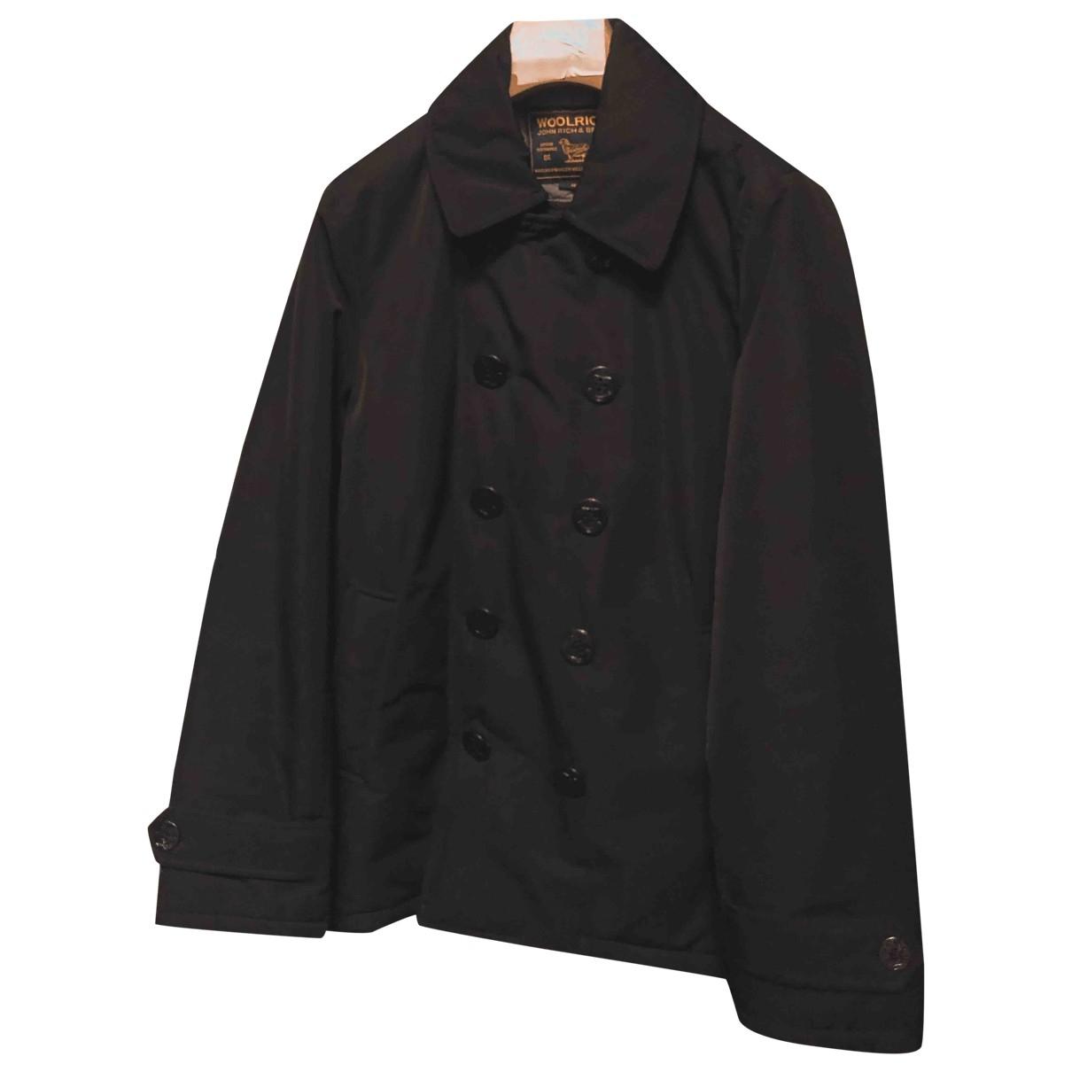 Woolrich - Vestes.Blousons   pour homme en coton - noir