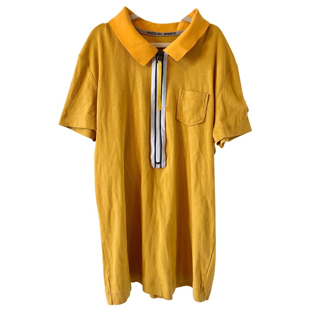 Marc Cain - Top   pour femme en coton - jaune