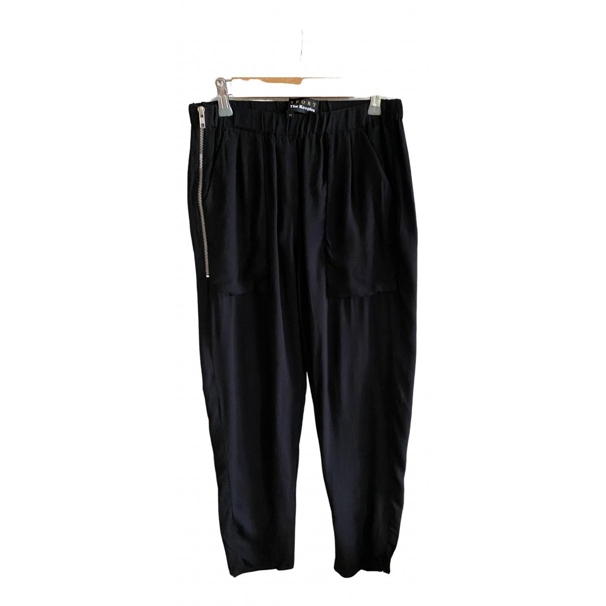 The Kooples \N Black Trousers for Women 36 FR