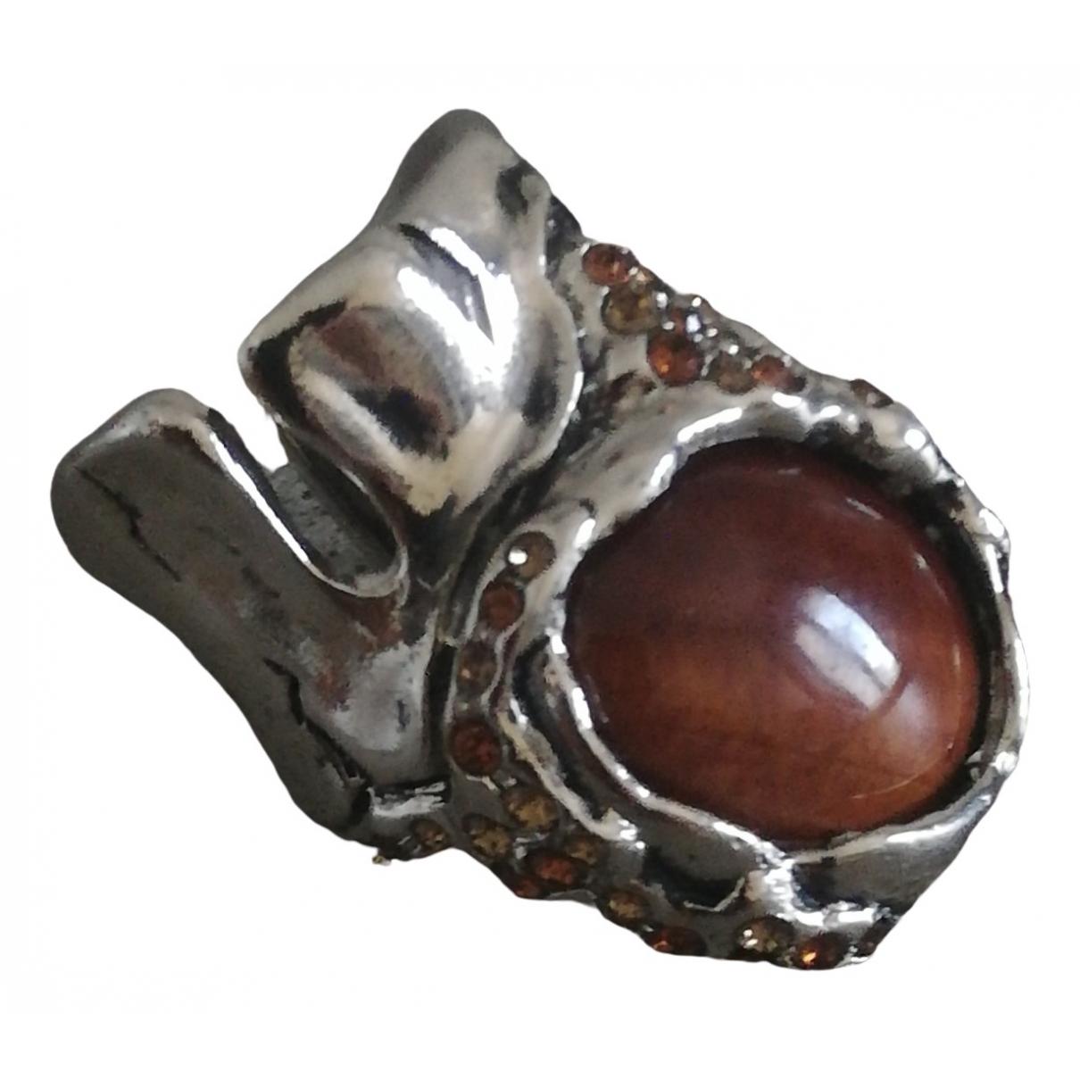 Roberto Cavalli \N Silver Metal ring for Women 61 EU