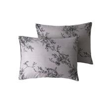 1 par funda de almohada con estampado de flor sin relleno