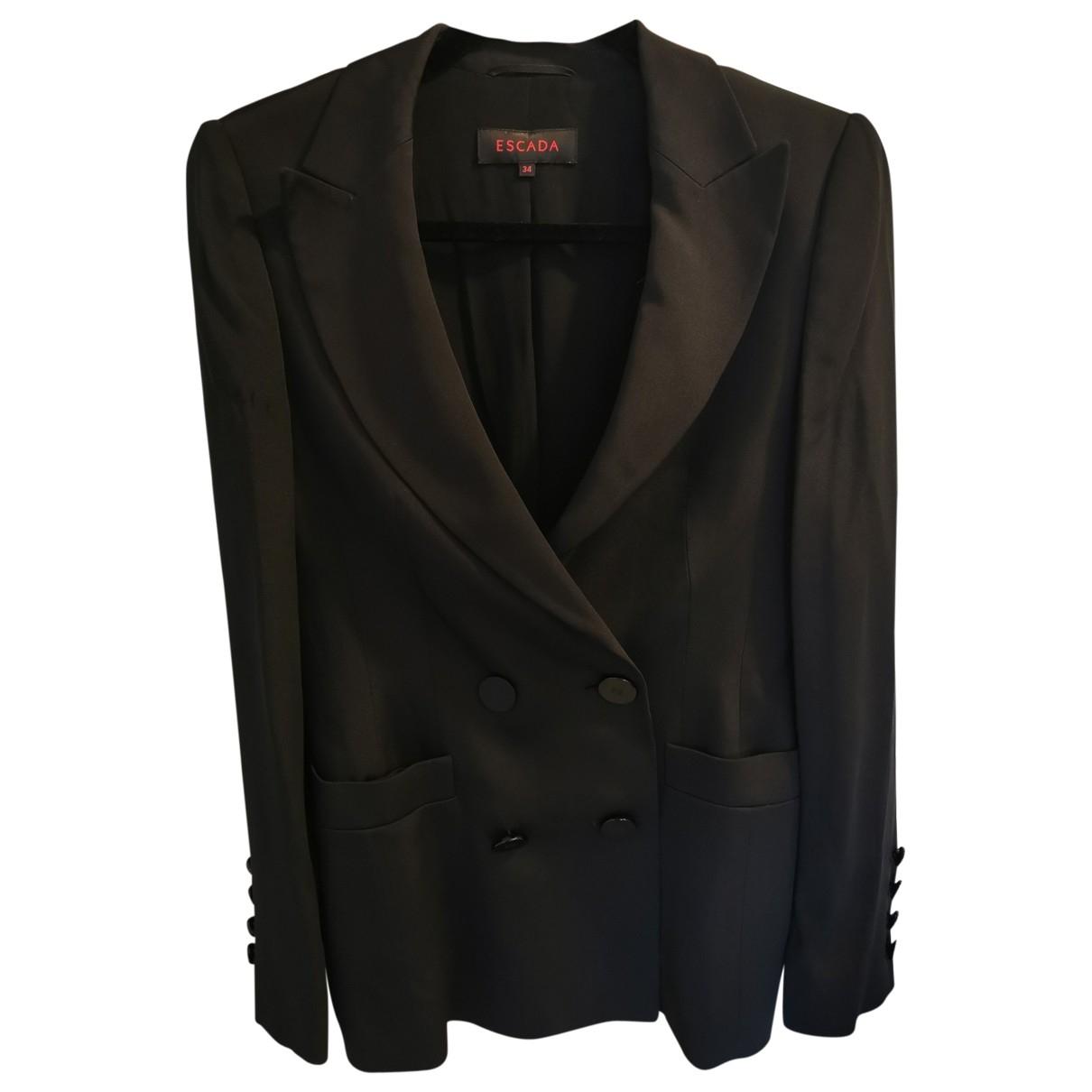 Escada \N Black Silk jacket for Women 34 FR