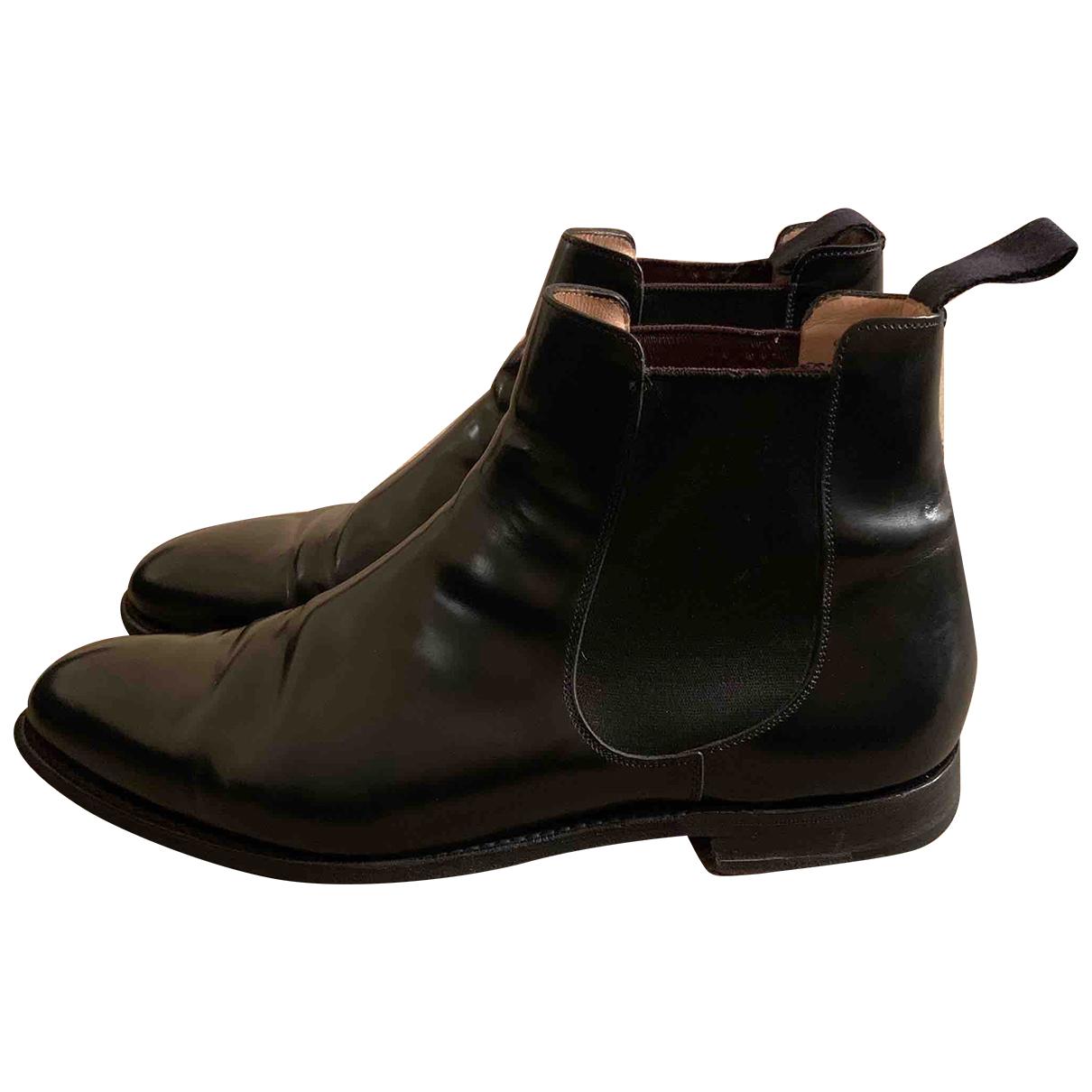 Churchs N Black Leather Boots for Men 9 UK
