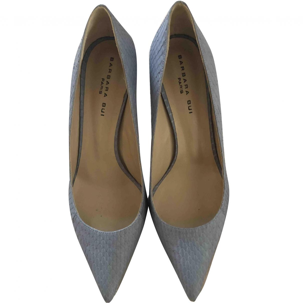 Barbara Bui \N Blue Leather Heels for Women 40 EU