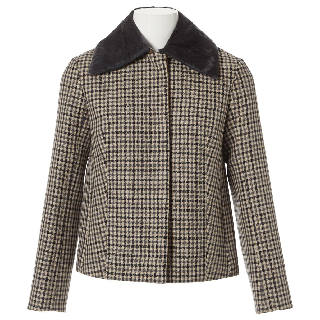 Nina Ricci - Manteau   pour femme en laine - beige
