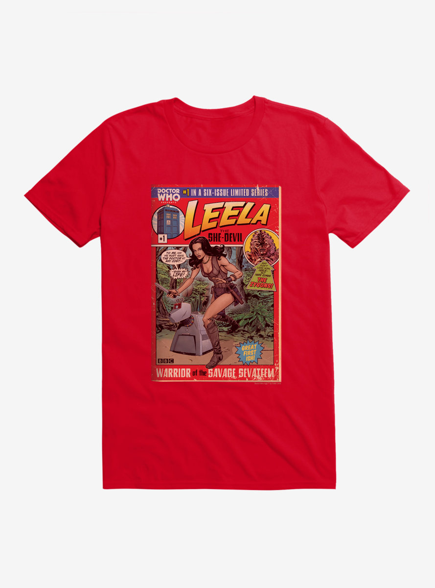 Doctor Who Leela She Devil Comic T-Shirt
