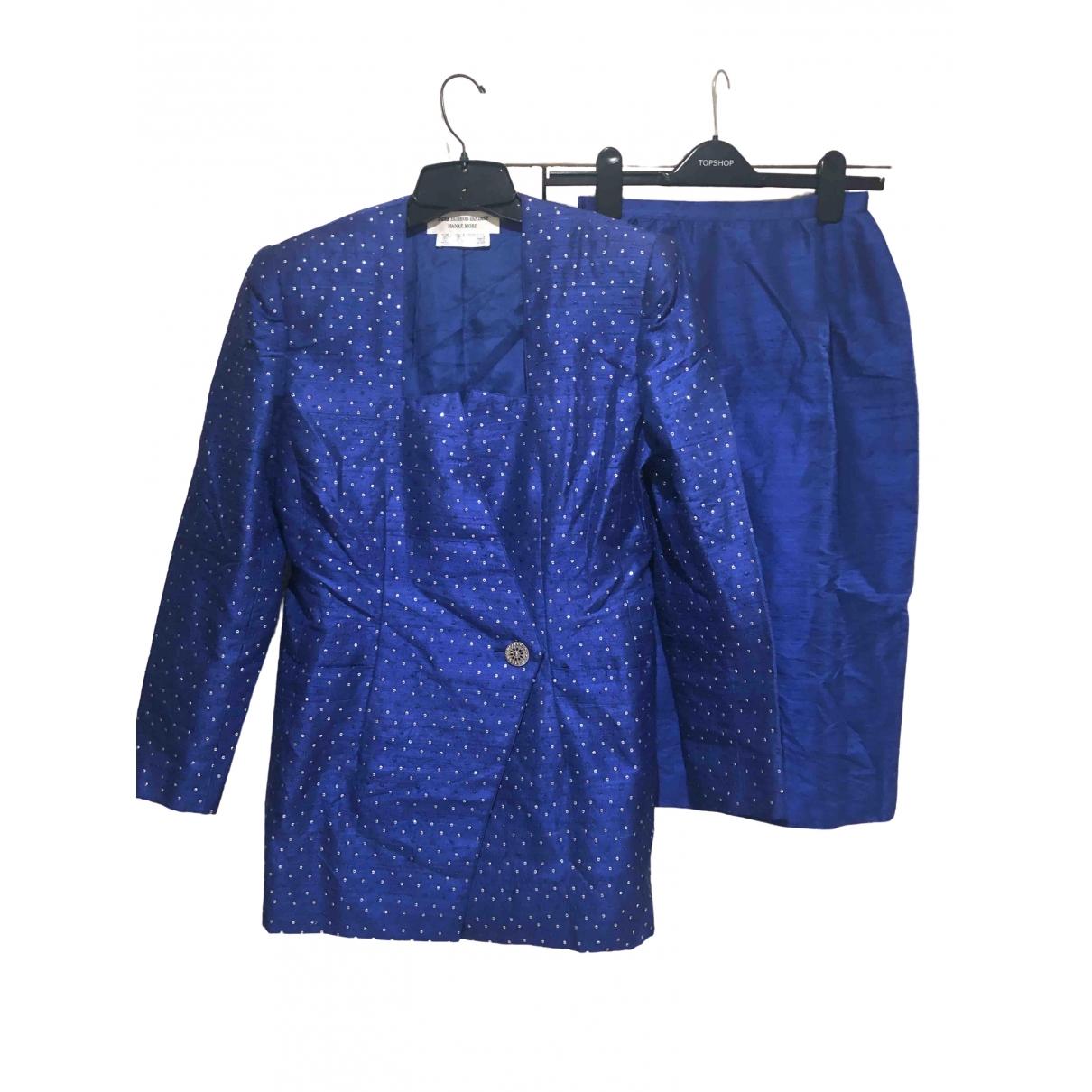 Hanae Mori \N Blue Silk jacket for Women 38 FR