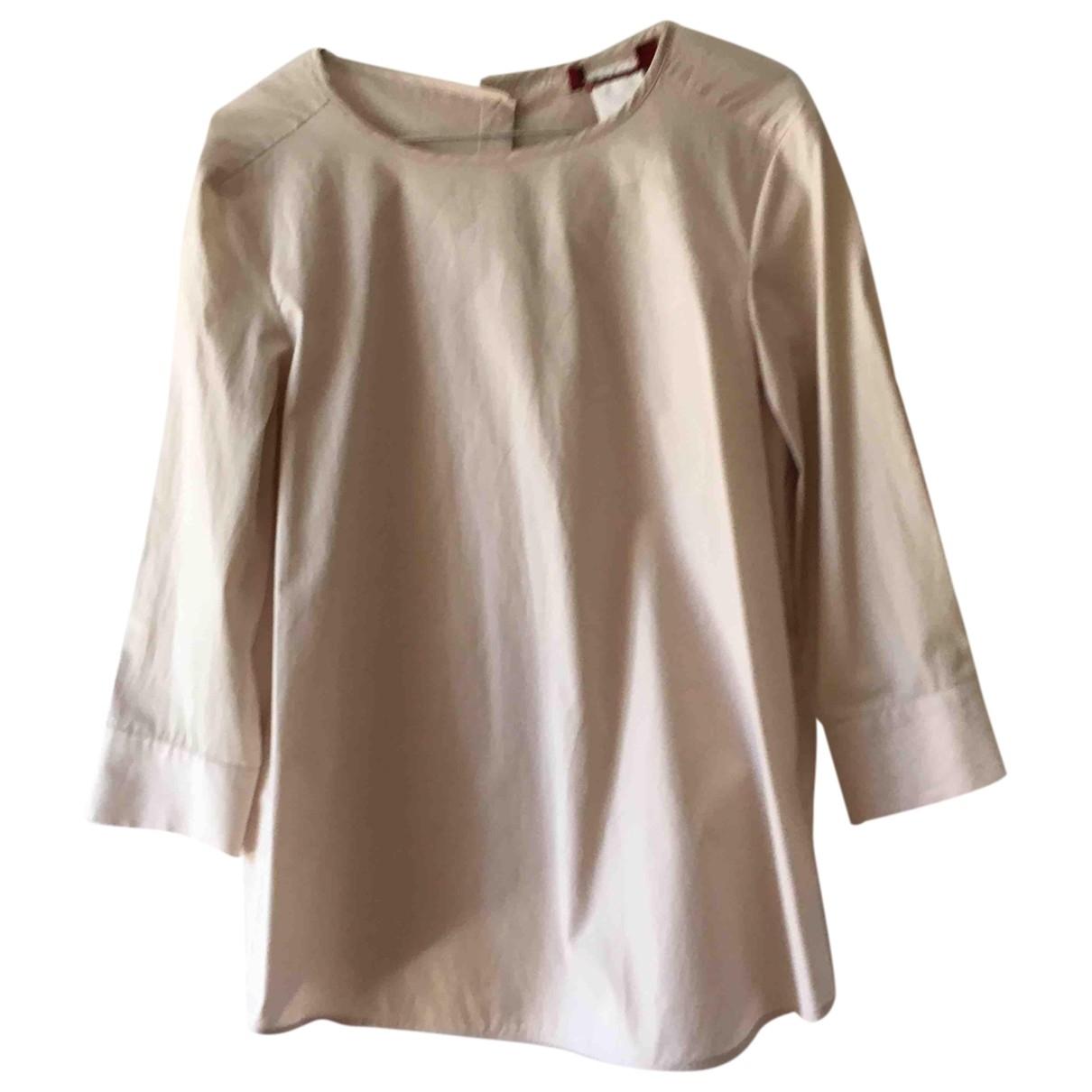 Max Mara Studio - Top   pour femme en coton - beige
