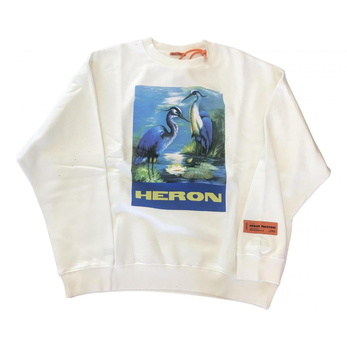 Heron Preston \N Pullover.Westen.Sweatshirts  in  Weiss Baumwolle