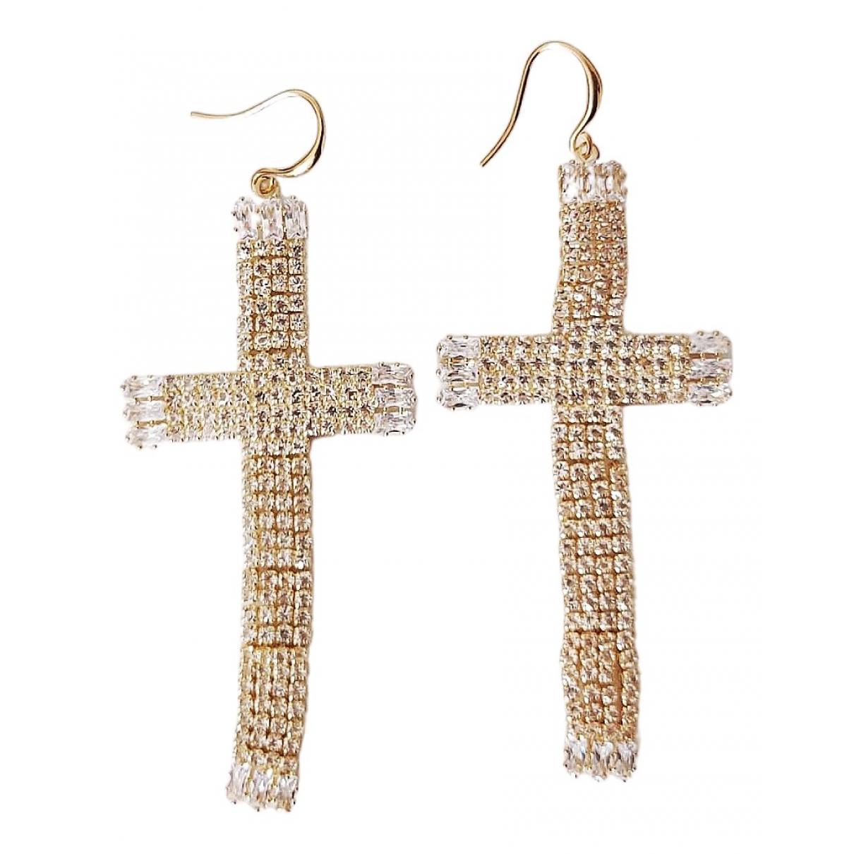 - Boucles doreilles Croix pour femme en metal