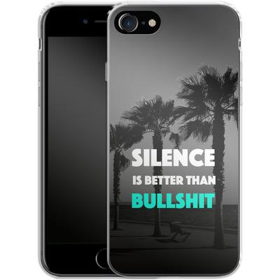 Apple iPhone 8 Silikon Handyhuelle - Silence Is Better von Statements