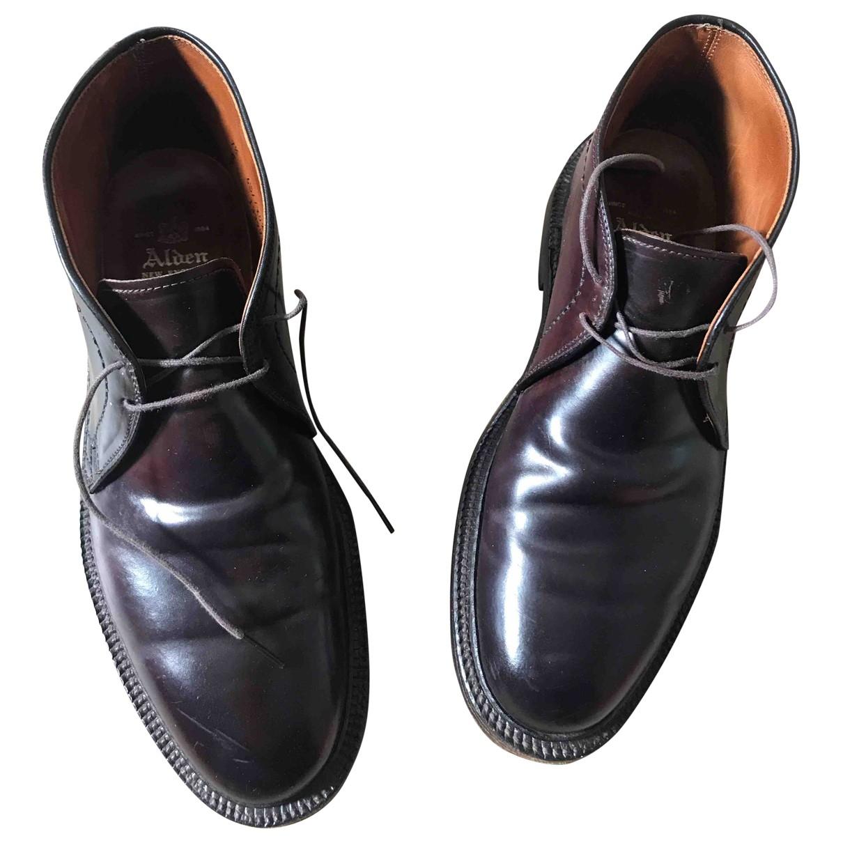 Alden - Derbies   pour homme en cuir - bordeaux