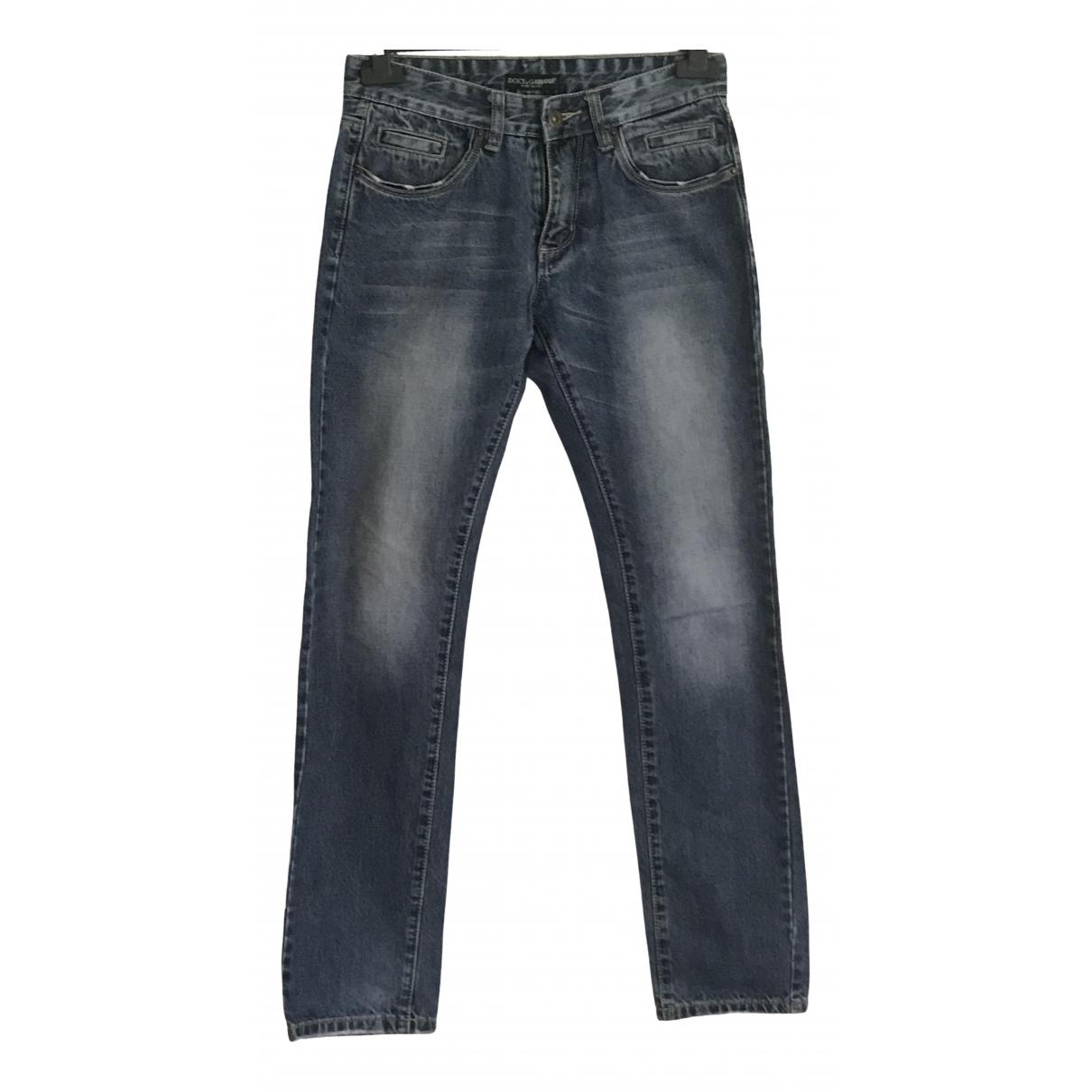 Dolce & Gabbana \N Blue Denim - Jeans Trousers for Women 10 UK