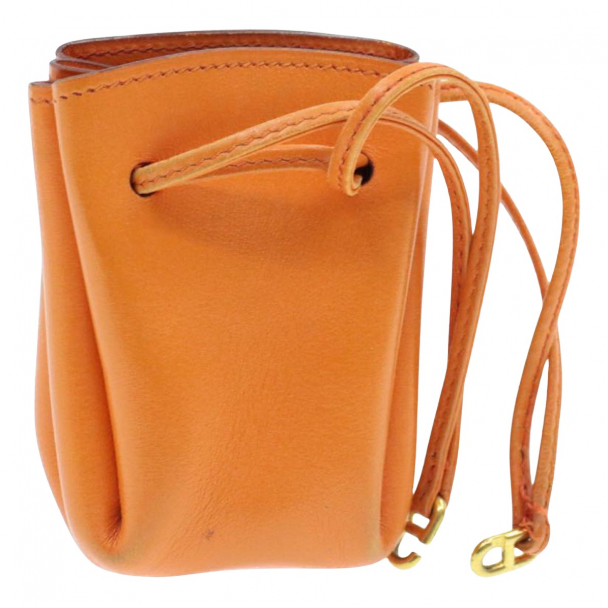 Hermes \N Clutch in  Orange Leder