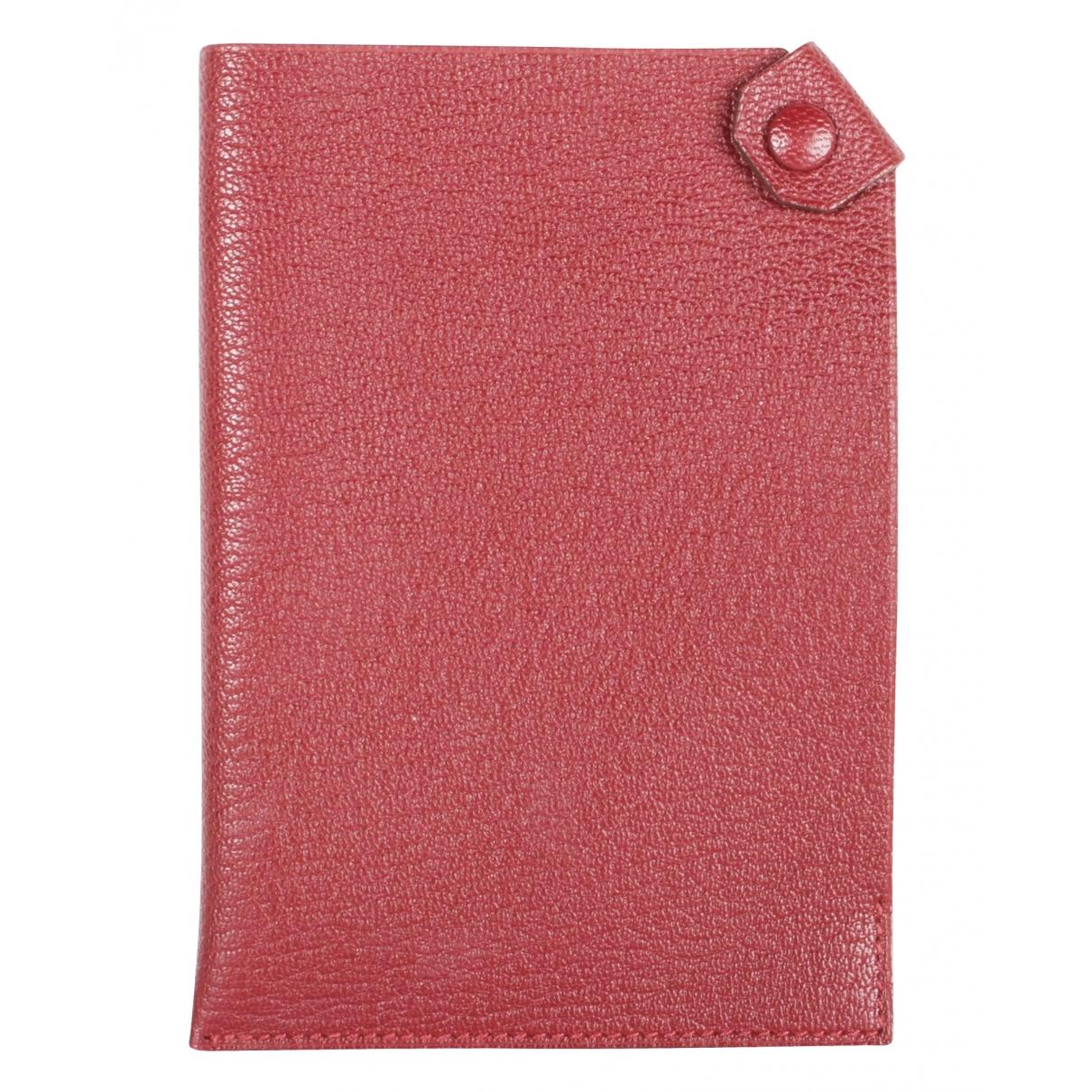 Hermès \N Burgundy Leather wallet for Women \N