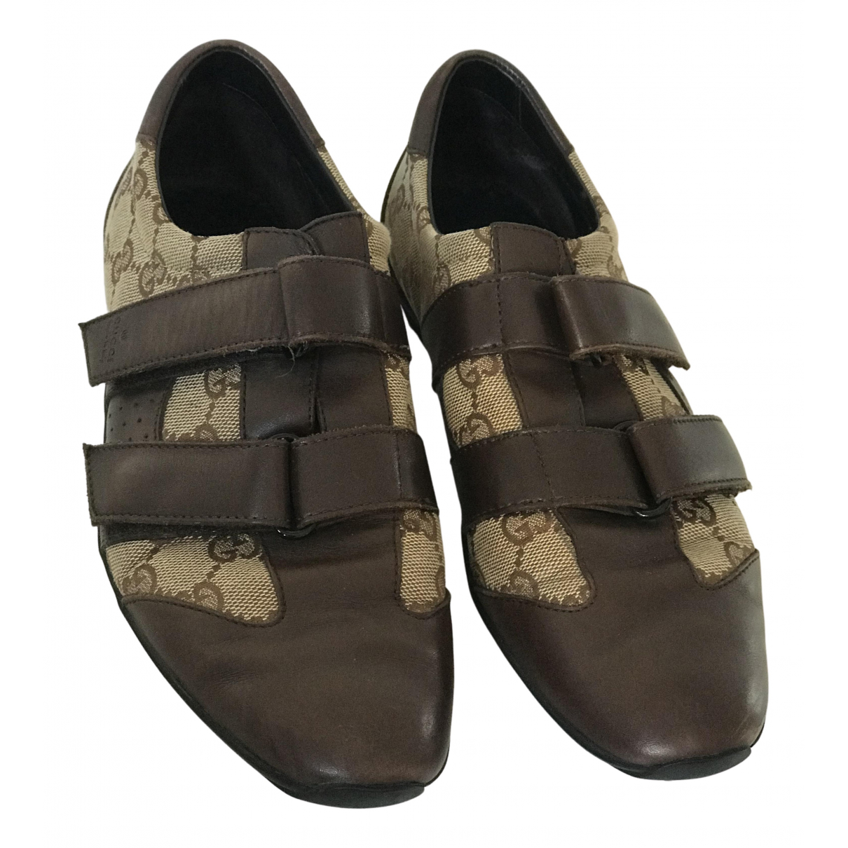Gucci N Brown Leather Trainers for Women 38 EU