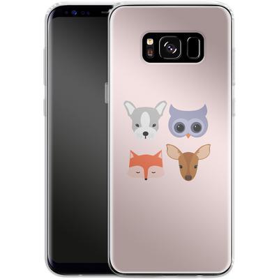 Samsung Galaxy S8 Silikon Handyhuelle - Animal Friends on Pink von caseable Designs