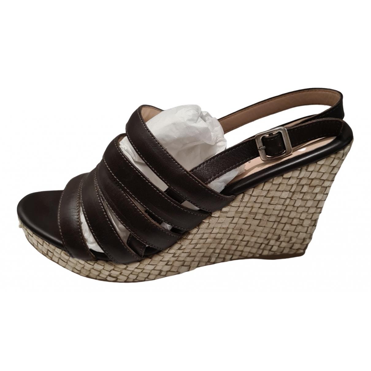 Unisa - Sandales   pour femme en cuir - marron