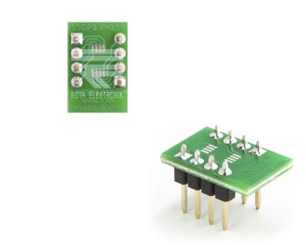 Roth Elektronik PCB Adapter SSOP Epoxy Glass Double-Sided 16.1 x 10.8 x 1.5mm