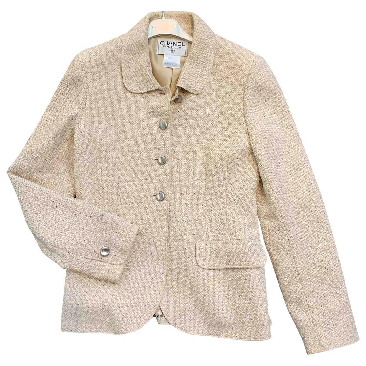 Chanel \N Beige Wool jacket for Women 38 FR