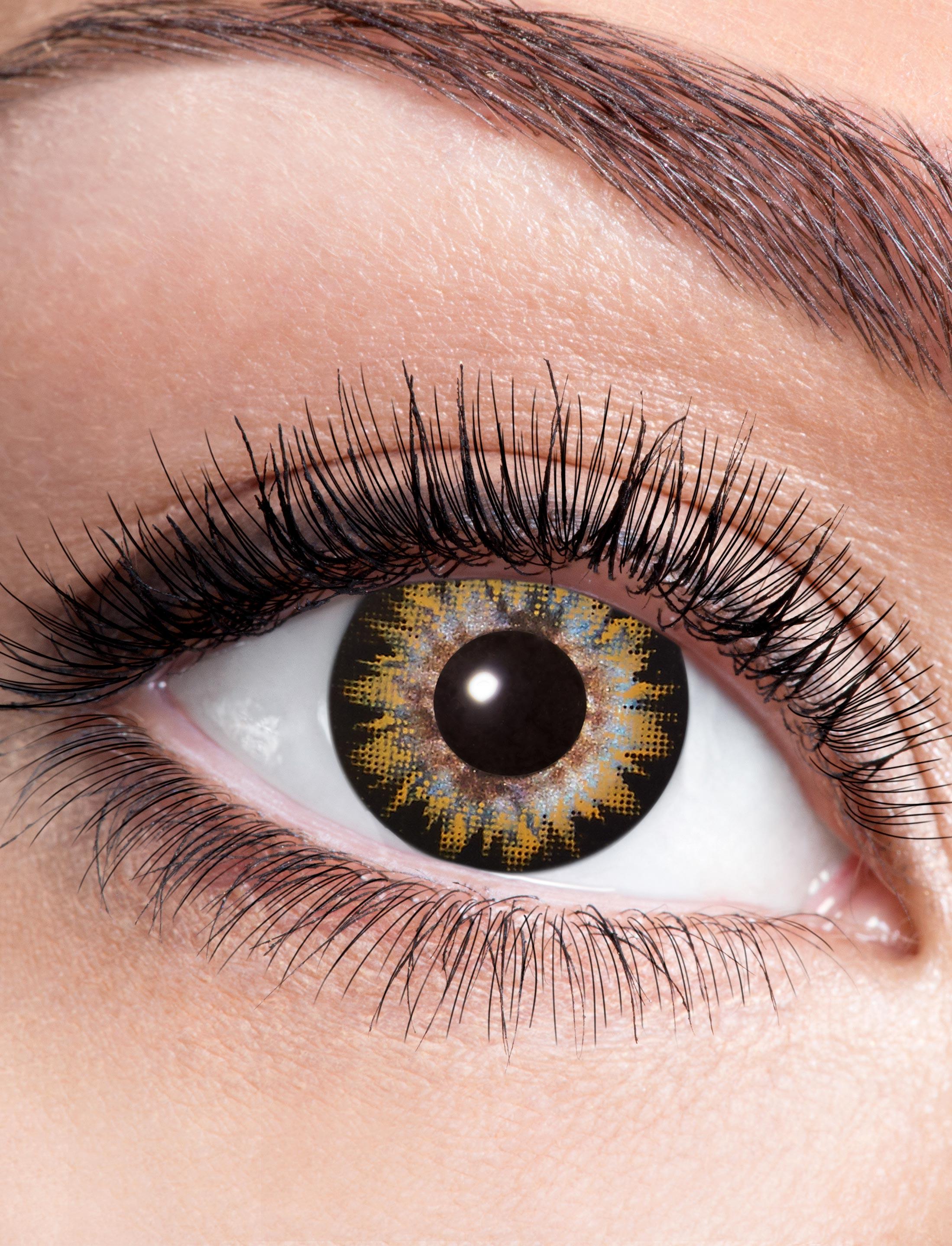 Kostuemzubehor Kontaktlinsen Two Tone Black/Brown Farbe: braun