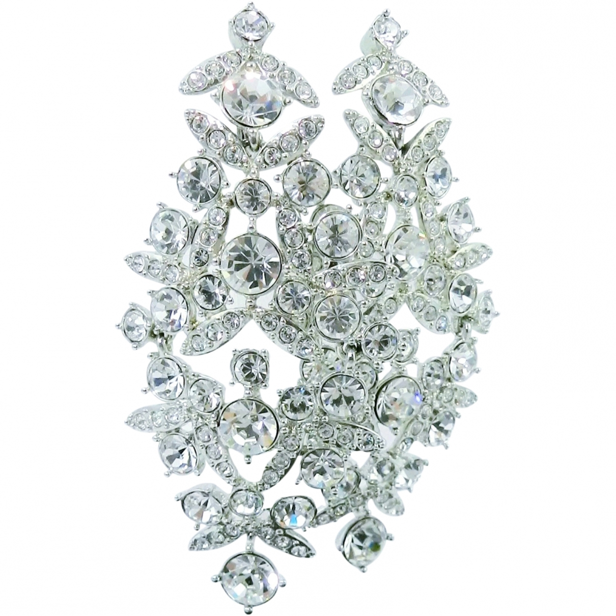 Givenchy - Boucles doreilles   pour femme en cristal - blanc