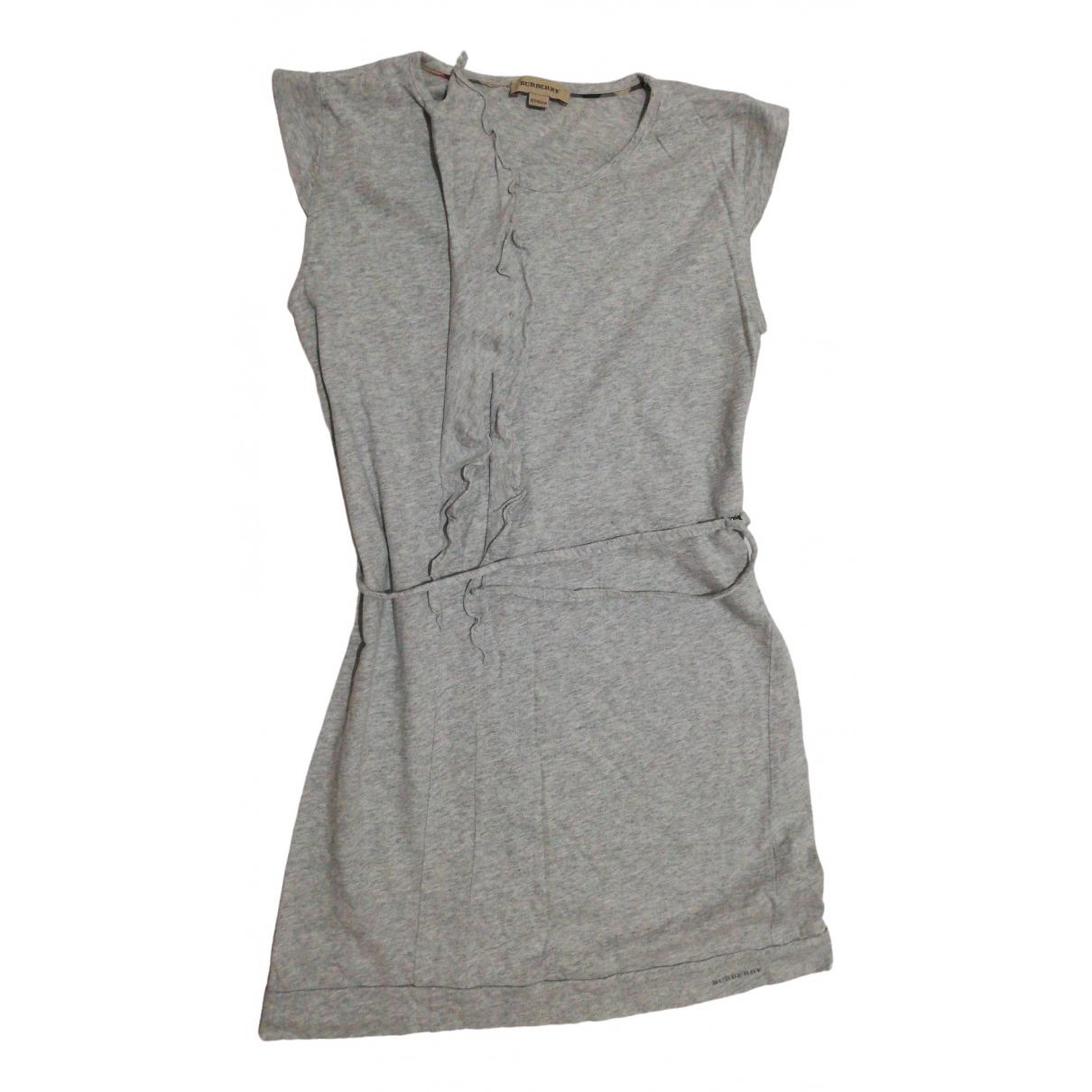 Burberry - Robe    pour enfant en coton - gris