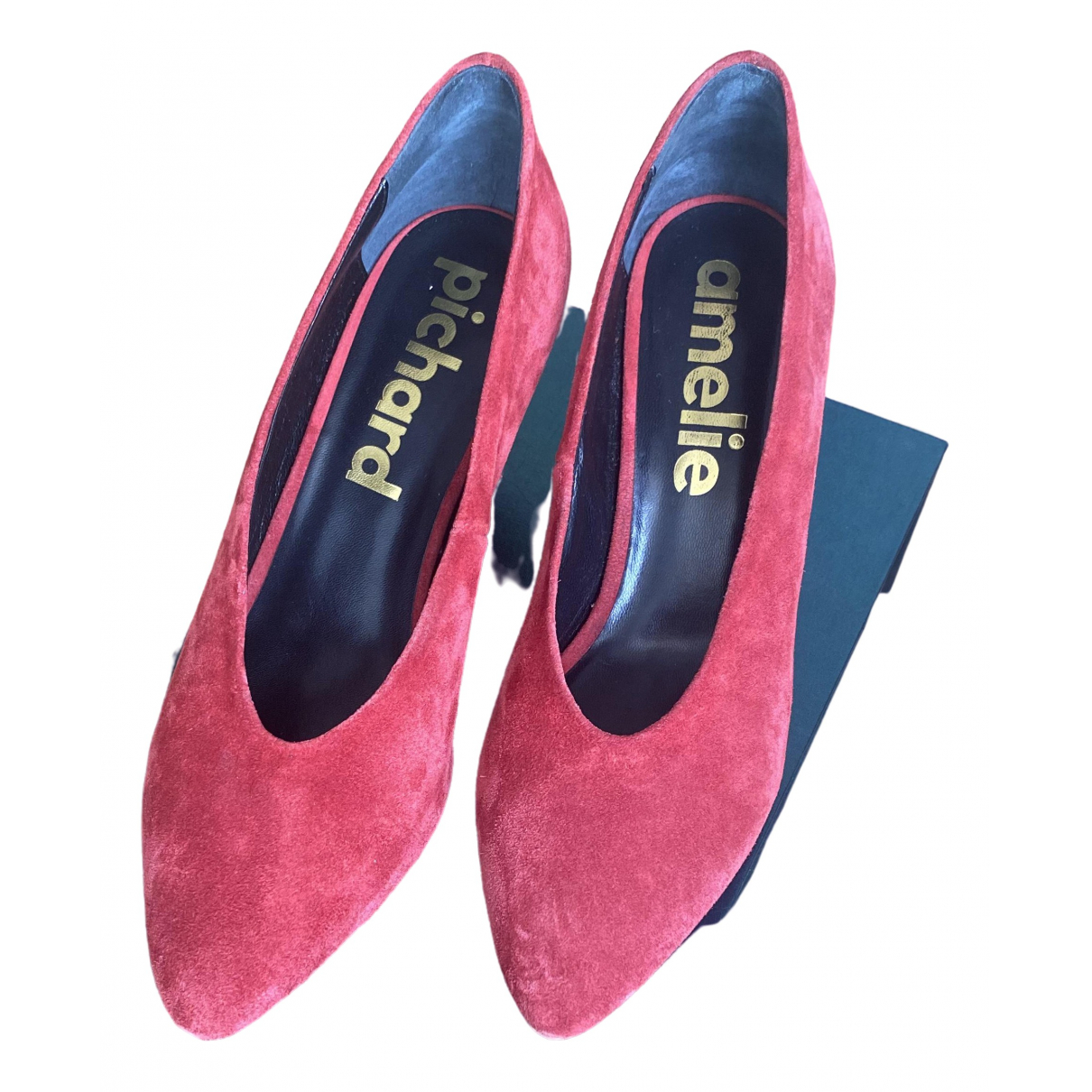 Amélie Pichard \N Red Suede Heels for Women 41.5 EU