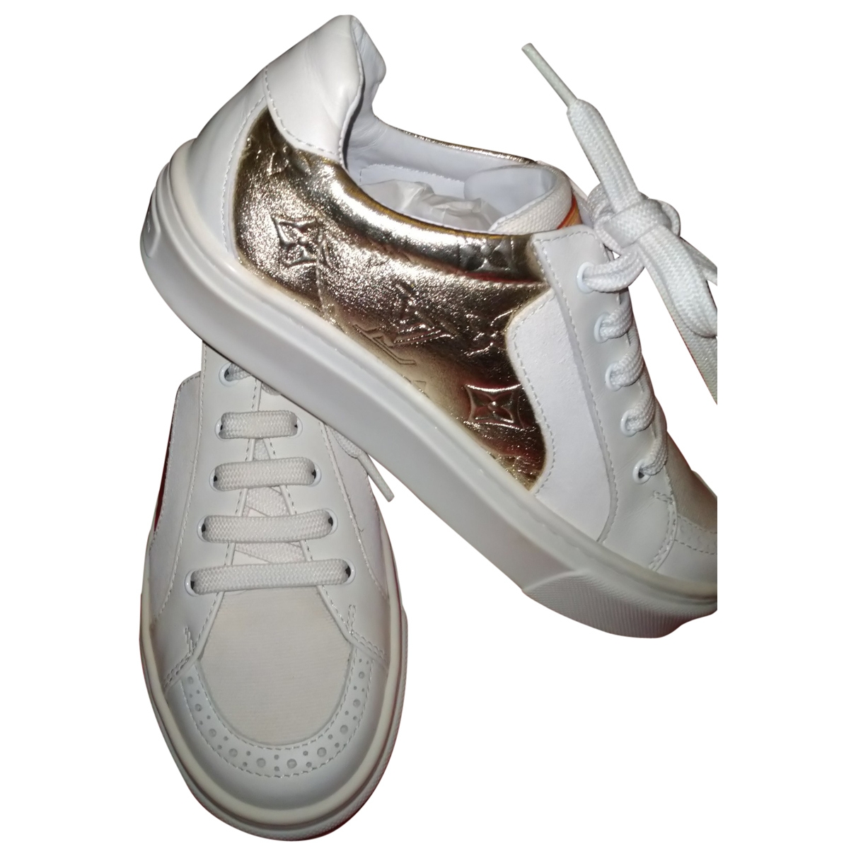 Louis Vuitton \N White Leather Trainers for Kids 29 EU
