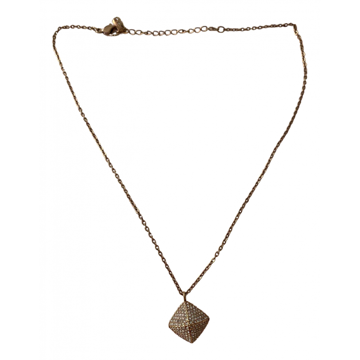 Swarovski - Collier   pour femme en metal - dore