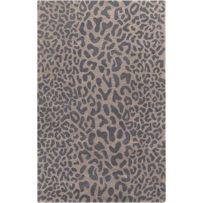 Athena ATH-5114 9' x 12' Rectangle Modern Rug in Charcoal  Dark
