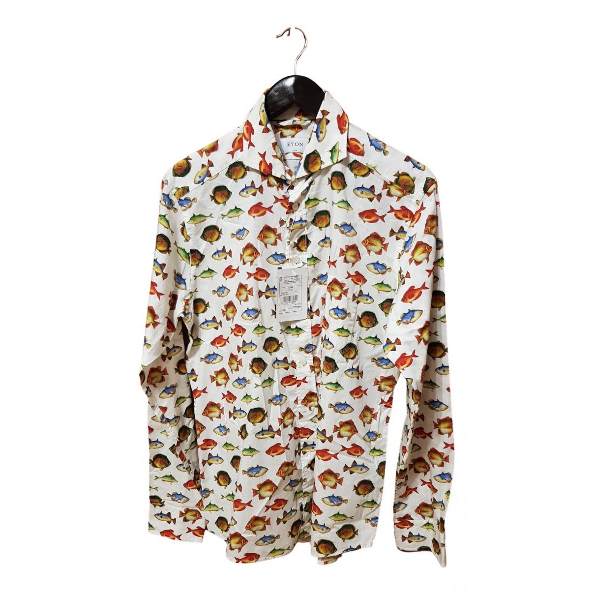 Non Signé / Unsigned \N Multicolour Cotton Shirts for Men 42 EU (tour de cou / collar)