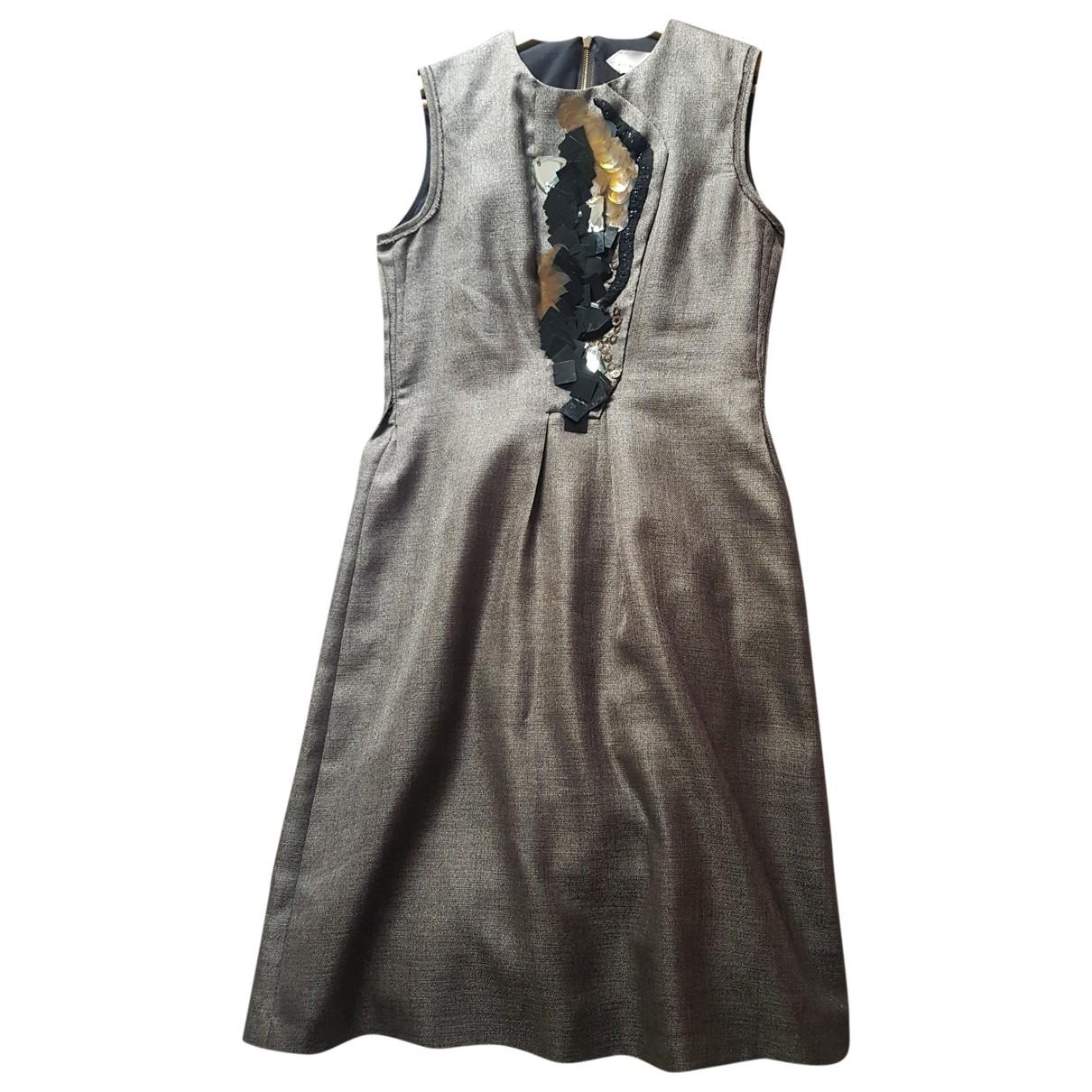 Schumacher - Robe   pour femme en laine - dore