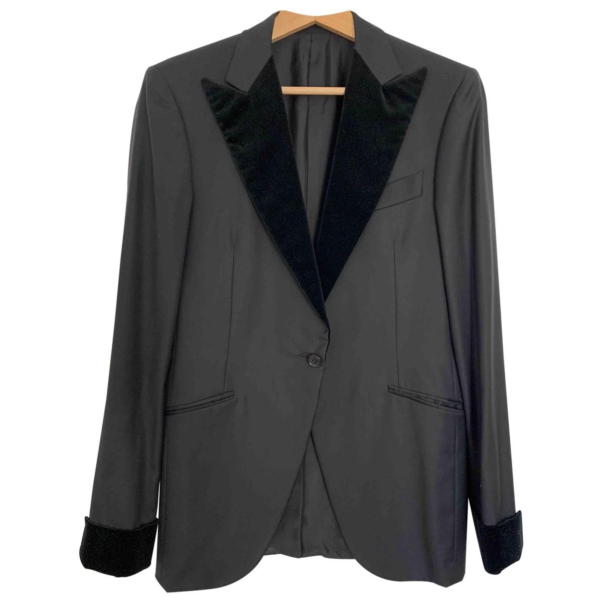 Bottega Veneta - Costumes   pour homme en laine - noir
