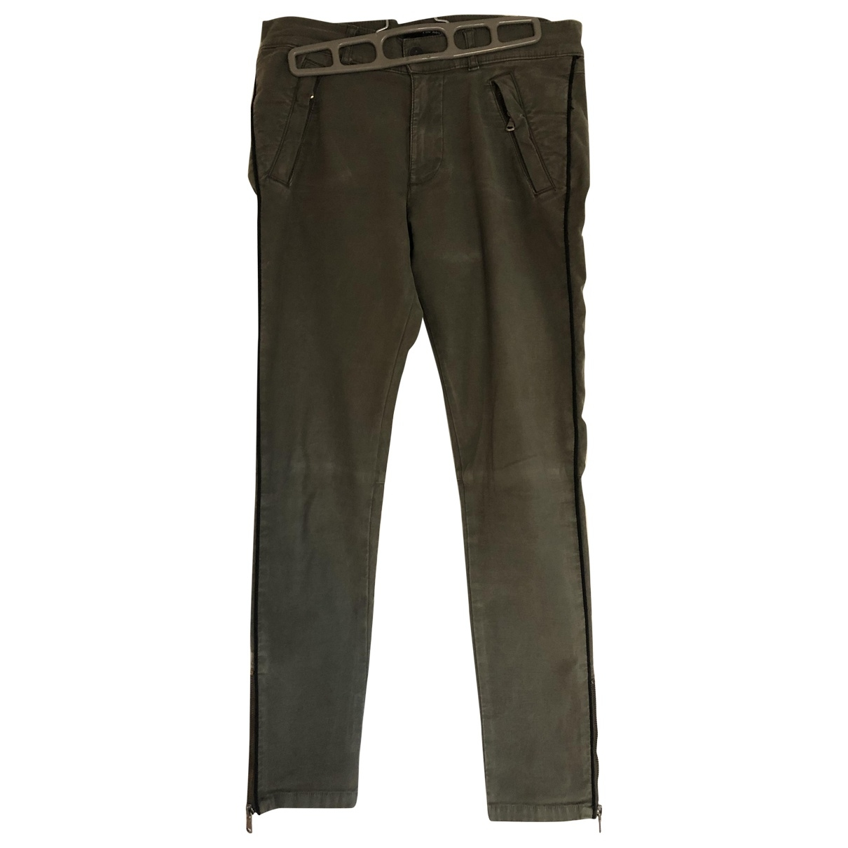 The Kooples \N Khaki Cotton Trousers for Women S International