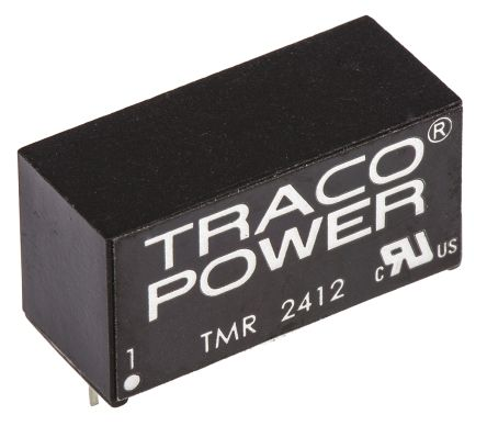 TRACOPOWER TMR 2 2W Isolated DC-DC Converter Through Hole, Voltage in 18 → 36 V dc, Voltage out 12V dc