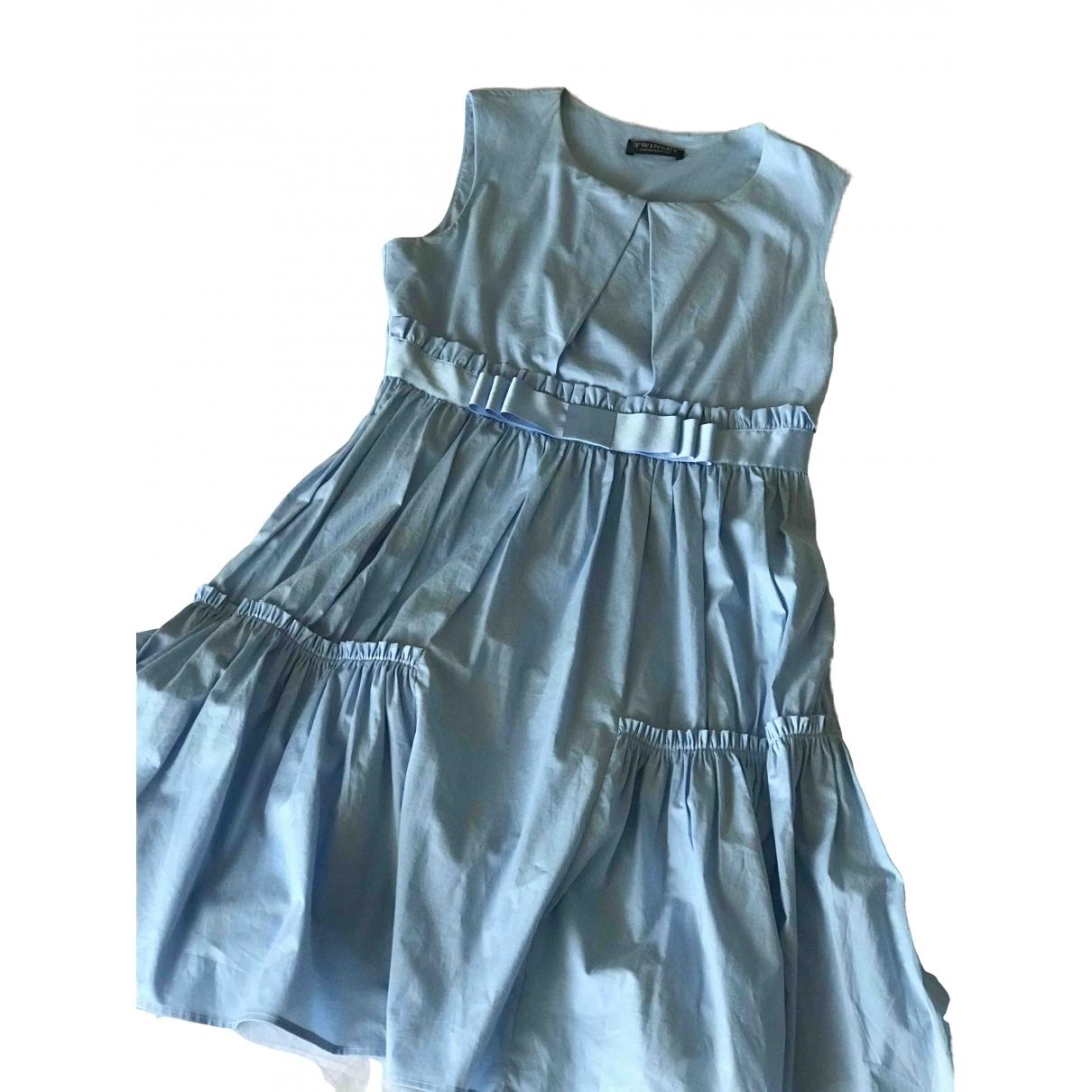 Twin Set \N Kleid in  Blau Baumwolle - Elasthan