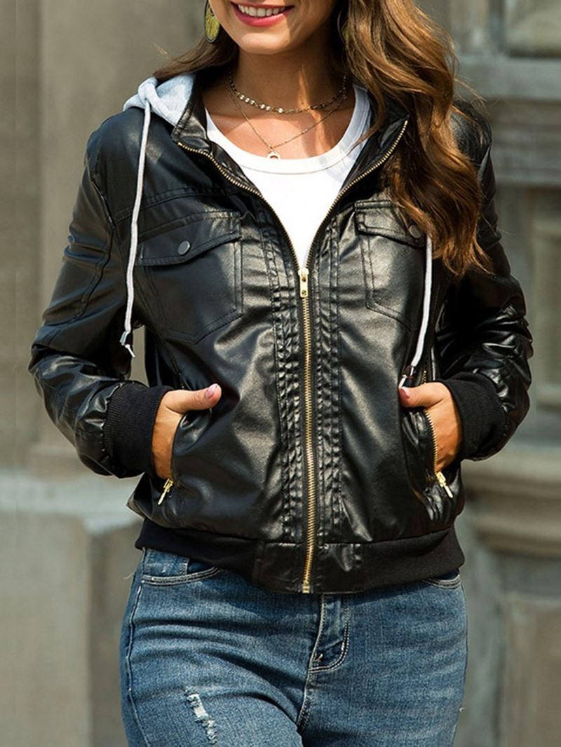 Ericdress Standard Faux Leather Short Women's PU Jacket