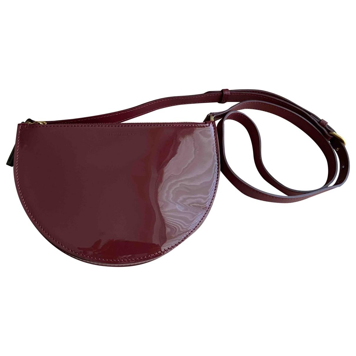Burberry \N Handtasche in  Bordeauxrot Lackleder