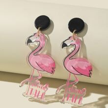 Ohrringe mit Flamingos Anhaenger